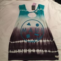 Maui and Sons Tie Dye tank top Brand new never worn Vans Tops Tank Tops
