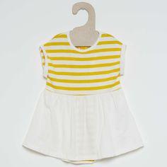 Vestido de algodón marino Bebé niña