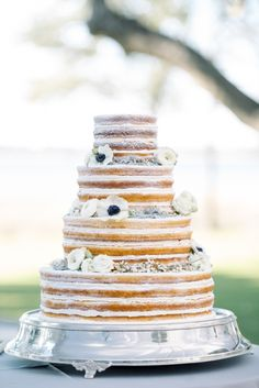 Unfrosted Layer Cake | photography by http://www.seanmoney-elizabethfay.com