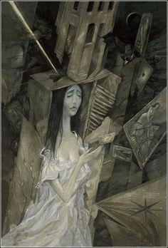 "Angela Carter ""The Bloody Chamber"", illustrated by Igor Karash"