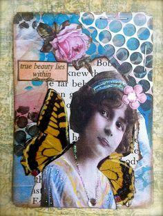 winged beauty atc | Flickr - Photo Sharing!