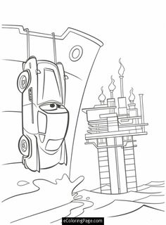 Cars 2 Printable Coloring Pages | Cars 2 Finn McMissile Hiding Printable Coloring Page | eColoringPage ...