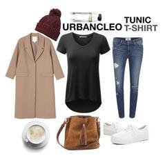 """URBANCLEO Hi-Lo V-Neck Tunic T-Shirt"" by urbancleo ❤ liked on Polyvore featuring Monki, Paige Denim, Dorothy Perkins and Menu"