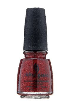 China Glaze Nail Lacquer with Hardeners in Ruby Red Pumps