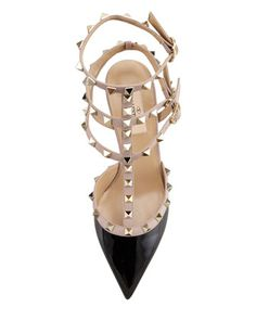 00dcb78ee Valentino Rockstud Patent Leather Sandal