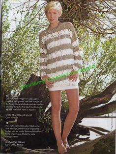 Modell Tunic free crochet graph pattern