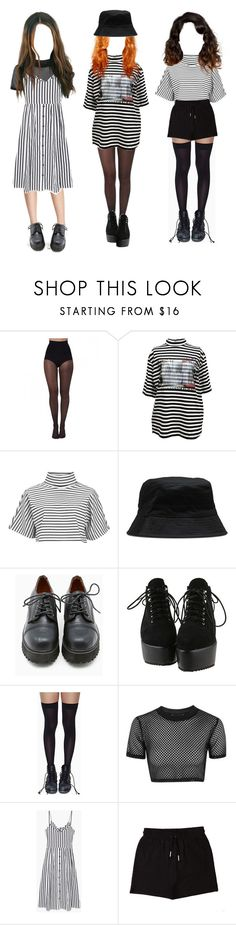 """striped"" by bruhkyu ❤ liked on Polyvore featuring Pretty Polly, M.Y.O.B., The Fifth Label, Dr. Martens, Sixtyseven, Leg Avenue, Topshop, MANGO and &nd B"