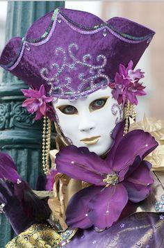 venice carnival costume purpl