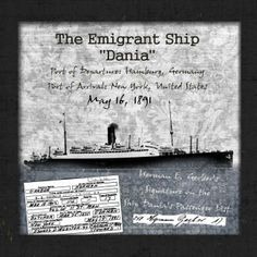 Ship Dania. I can update this one for my arrival.