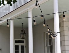 Cafe lights at the Thomas Bennett House Downtown Charleston!  Lighting is a key essential to any event or wedding! Contact us today and see what designs match your layout!