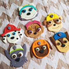 A personal favorite from my Etsy shop https://www.etsy.com/listing/289447699/paw-patrol-cupcake-toppers-fondant Click to purchase