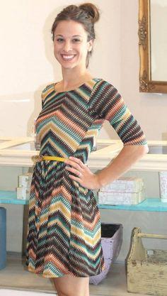lottiedottie | Missoni Print Fall Dress