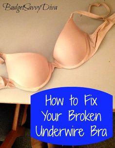How to Fix Your Broken Underwire Bra