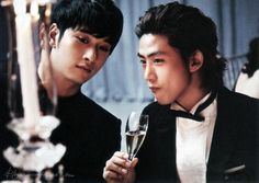 "Nov 2012 – Marie Clare Magazine – ""PARTY ON! – Busan IFF Best Dressed"" (Taecyeon, Chansung)"