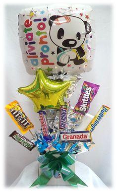 #Arreglo de #Globos con #Chocolates #Aliviate #Pronto!! #Siempre hay una #Ocasion!!