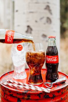 For your holiday party, serve @cocacola in these gorgeous curved Riedel glasses!  #cokestyle #tomkatstudio Thanks to our friends at Coca-Cola!