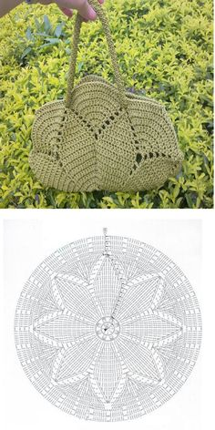 Crochet handbags 769130442591473209 - Mandala-Taschenmuster Source by Bag Crochet, Crochet Purse Patterns, Crochet Shell Stitch, Crochet Handbags, Crochet Purses, Crochet Gifts, Crochet Clothes, Free Crochet, Crochet Baskets