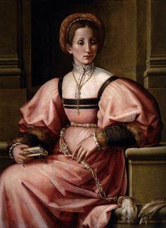 Pierfrancesco Fosci, Portrait of a Lady, 1530-5, Museo Thyssen-Bornemisza, Madrid  Festive Attyre—http://www.festiveattyre.com/research/secondflor/secflor30.html (downloaded February 2009)