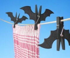 Bat Clothespins ( $6.57 ) : Replace your boring old clothespins for spooky bat ones instead.