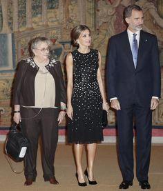 Los Reyes Felipe VI y Letizia con la esposa del presidente de Israel. 07.11.2017