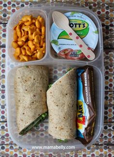 Turkey and Cheese Wrap in Easylunchboxes for School - mamabelly.com