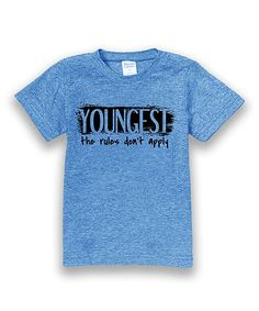 Heather Sky 'Youngest Child' Tee - Toddler & Boys