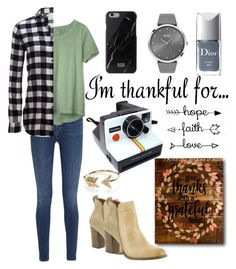 """""""thanks giving"""" by mildredsunrise on Polyvore featuring J Brand, Gap, Woolrich, Diba, BOSS Black, Christian Dior, Polaroid and EF Collection"""