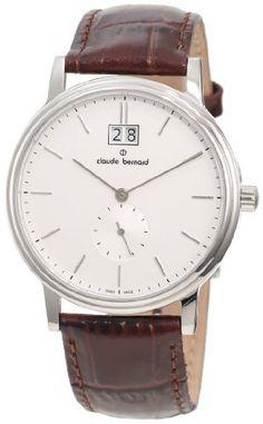 Claude Bernard Men's 64010 3 AIN Classic Gents Silver Dial Brown Leather Date Watch claude bernard. $281.25. Antireflective sapphire crystal. Big date window. Brown leather strap. Sub-second dial. Silver dial with silver numbers