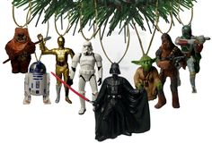 "Disney's ""Star Wars"" Holiday Ornament Set- (8) PVC Figure Ornaments Included - Limited Availability"