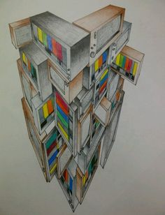 3 point perspective i did last year in class, gonna be focusing on tvs more in the near future.