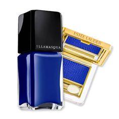 Illamasqua Nail Varnish in Force.   (Also shown, Estée Lauder's Vivid Shine Eyeshadow in Fire Sapphire.) #nails #nailpolish