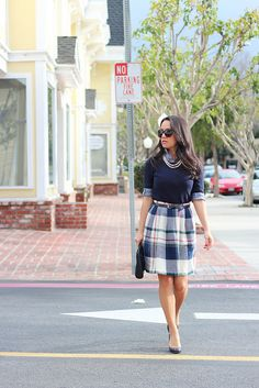Vintage Plaid Skirt-