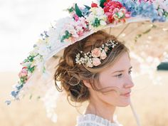 Fresh Flowers in Updo Bridal Hair Ideas | photography by http://featherandstone.com.au/
