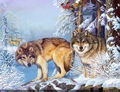 Волки в лесу — Компьютерная графика и анимация — Render.ru