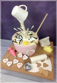 New Ideas Birthday Cake Decorating Fondant Awesome Anti Gravity Cake, Gravity Defying Cake, Unique Cakes, Creative Cakes, Pretty Cakes, Cute Cakes, Fondant Cakes, Cupcake Cakes, Chef Cake