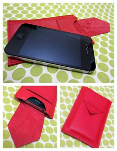 Tutorial: Sew a leather iPhone cover with flap