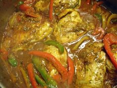 Haitian Poulet Creole with Pikliz – Cooking in Sens Haitian Food Recipes, Cuban Recipes, Jamaican Recipes, Indian Food Recipes, Dinner Recipes, Trinidad Recipes, Spicy Recipes, Greek Recipes, Hatian Food