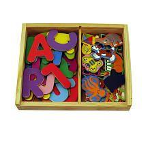 Melissa and Doug $14.99, 52 magnets, half u/c letters half animals