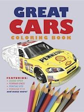 Covering all kinds of vehicles and spanning the history of motoring, Great Cars Colouring Book includes 30 cars from around the world. Each vehicle is explored over a two-page spread, with an expertly-drawn, colour three-quarter view photograph on one page matched on the other with a detailed outline for the child to complete a masterful colouring project.