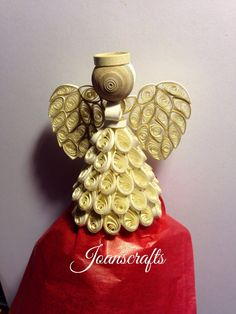 Touched with Gold Golden Quilled Angel by joanscrafts on Etsy