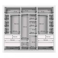 Couple Wardrobe with 3 Mirror 3 Doors Siena Furniture White .- Guarda Roupa Casal com 3 Espelho 3 Portas Siena Móveis Branco – MadeiraMadeira Double Wardrobe with 3 Mirror 3 Doors Siena Furniture White – MadeiraMadeira -the chosen wardrobe desig Wardrobe Design Bedroom, Diy Wardrobe, Master Bedroom Closet, Bedroom Wardrobe, Wardrobe Ideas, Closet Ideas, Wardrobe Storage, White Wardrobe, Mirrored Wardrobe