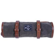 Made with re-surfaced wax canvas from past military installations. The KiltRidge Tool Roll unfolds to hold all those wrenches, sockets and allen wrenches. Interior zip pocket enables safe storage for