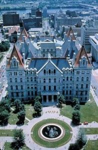 New York - State capital building in Albany. NY became the 11th state on July 26, 1788.