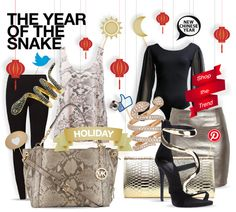 Year of the snake - new chinese year - shopthemagazine.com #snakeyear