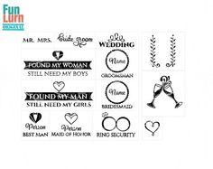 Wedding SVG  Mr. Mrs.  invite Groomsman  Bridesmaid  by FunLurnSVG