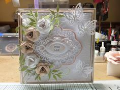 Drakes Field Cards, filigree card with flowers