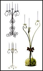 47 1 2 Tall Vintage Gothic Iron Candle Holder By