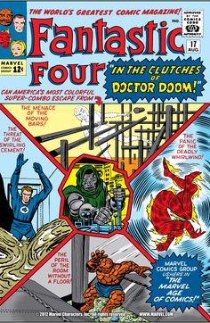 Fantastic Four 17 Unrestored Marvel Jack Kirby Stan Lee Doctor Doom 5 Dr Doom Marvel, Marvel Comics Superheroes, Marvel Comic Books, Comic Books Art, Dc Comics, Marvel Vs, Marvel Heroes, Marvel Characters, Jack Kirby