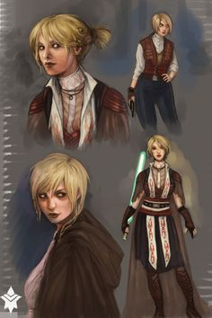 Awesome art.  Meetra Surik, also known as the Jedi Exile after the Mandalorian Wars, was a Human female Jedi Master. As a Padawan, she chose to disobey the orders of the Jedi High Council and aid the Galactic Republic in its war against the invading Mandalorian Neo-Crusaders.