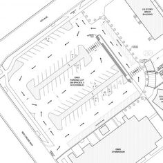 Parking plan for the Denver Montclair International School - EVstudio, architecture engineer Denver Evergreen Colorado, Austin Texas Architect Landscape Architecture Design, School Architecture, Architecture Plan, Architecture Details, Parking Plan, Parking Building, Parking Space, Car Parking, Car Park Design